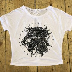 Tattoo Leopard Open-Back Tee