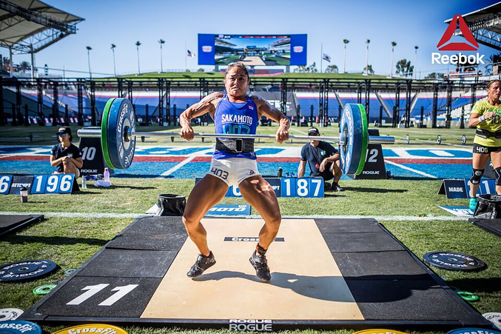 Annie Sakamoto at the CrossFit Games