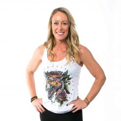 Colored Tattoo Leopard Tank