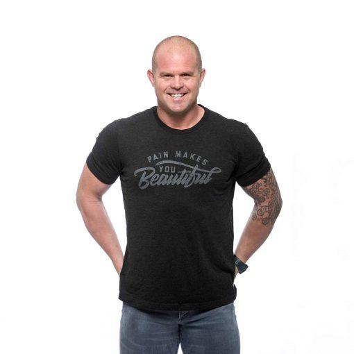 Men's Black Pain Makes You Beautiful T-Shirt