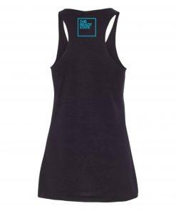 Women's Black/Sky Blue TRS Logo Racerback Tank