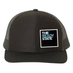 Black Square Logo Patch Trucker Hat
