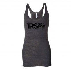 Women's Charcoal/Black TRS Logo Racerback Tank