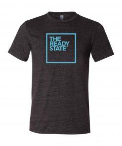 Men's Charcoal/Sky Blue Square Logo T-Shirt