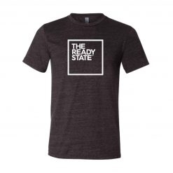 Men's Charcoal/White Square Logo T-Shirt