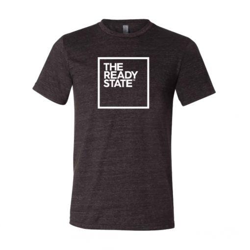 Men's Charcoal/White Square Logo T-Shirt