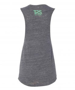 Women's Grey/Electric Green Square Logo Muscle Tank