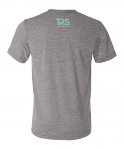 Men's Grey/Electric Green Square Logo T-Shirt