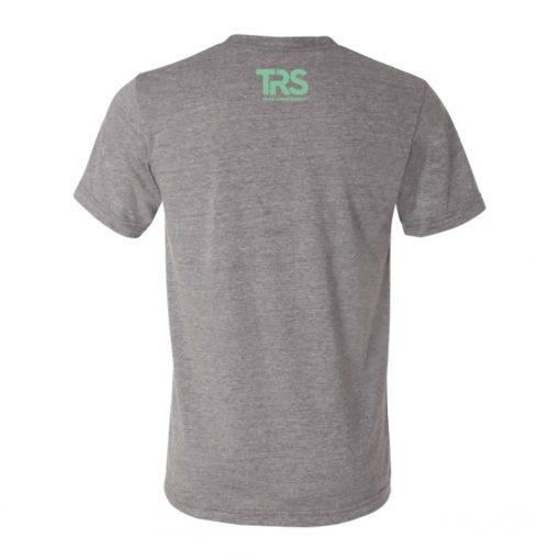 Men's Grey/Electric Green Square Logo T-Shirt