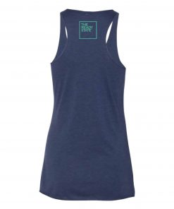 Women's Navy/Electric Green TRS Logo Racerback Tank
