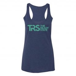 Women's Navy/Electric Green TRS Logo Racerback Tank