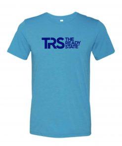 Men's Aqua/Electric Blue TRS Logo T-Shirt