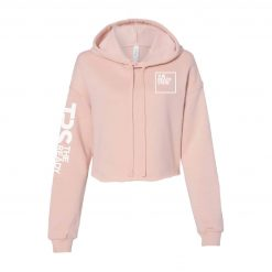 Women's Peach Cropped Fleece Hoodie