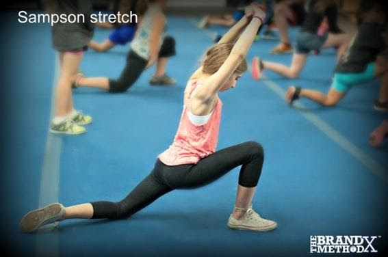 A picture containing person, sport, gymnastics, ball  Description automatically generated