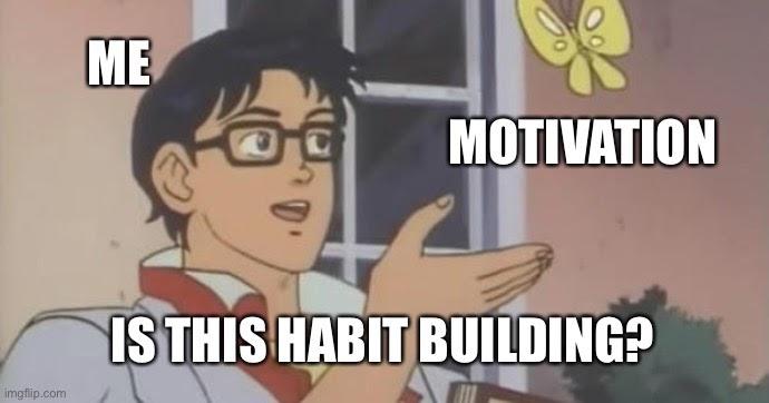 Motivation v. habit cartoon