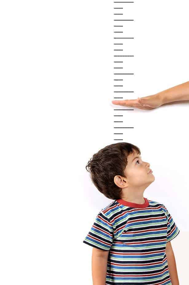 Growth chart with child