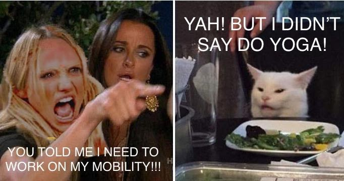 Mobility v. yoga meme
