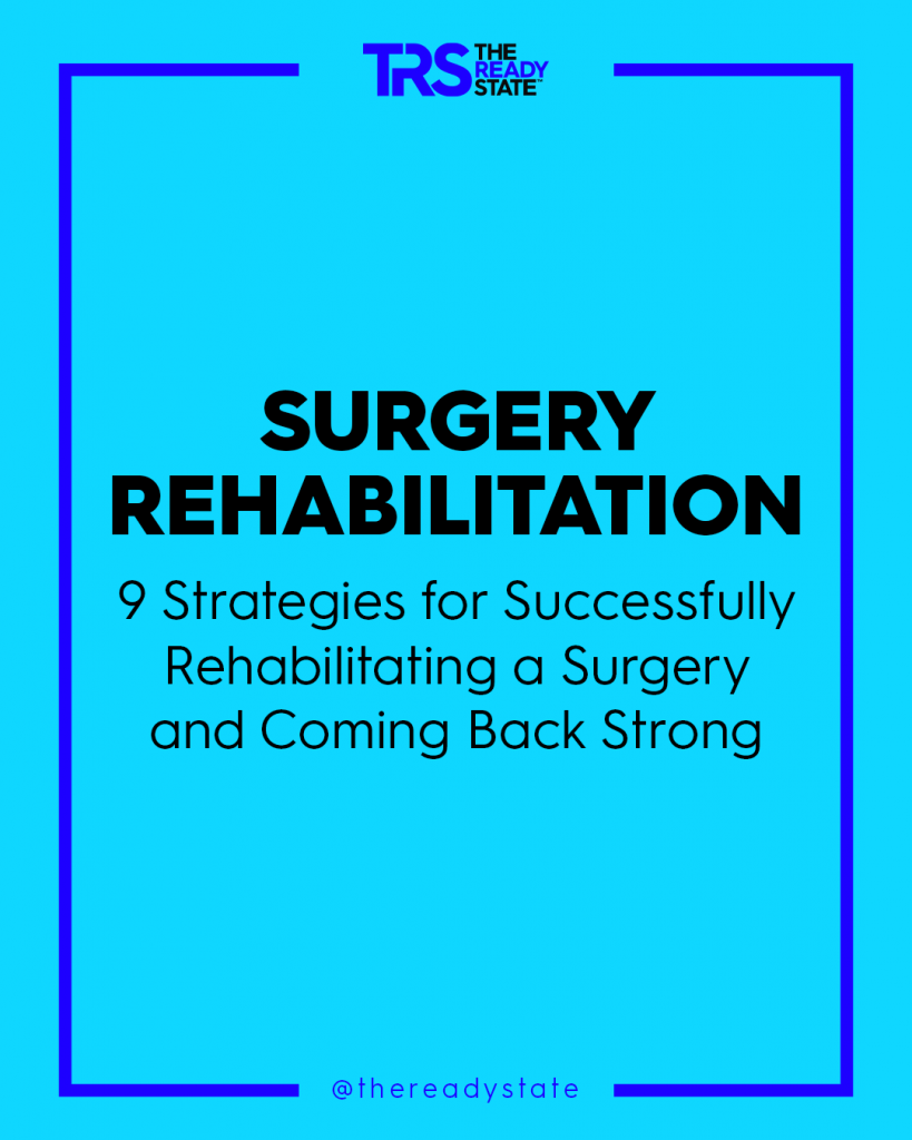 Infographic Detailing Rehabilitation Strategies For Athletes