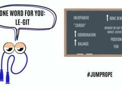 Image of a jumprope and a list of the reasons why everyone should jumprope