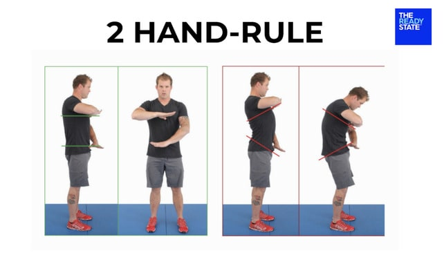 Image of Image of the 2 hand rule to demonstrate why everybody needs to jump rope