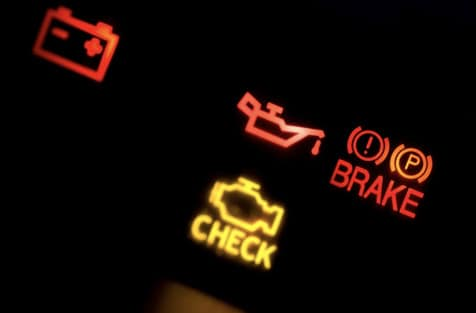 Image of a check engine light to demonstrate why everybody needs to jump rope